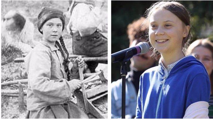 Spasitelka Greta Thunberg cestuje časem: Záhadně se objevila na snímku z roku 1898