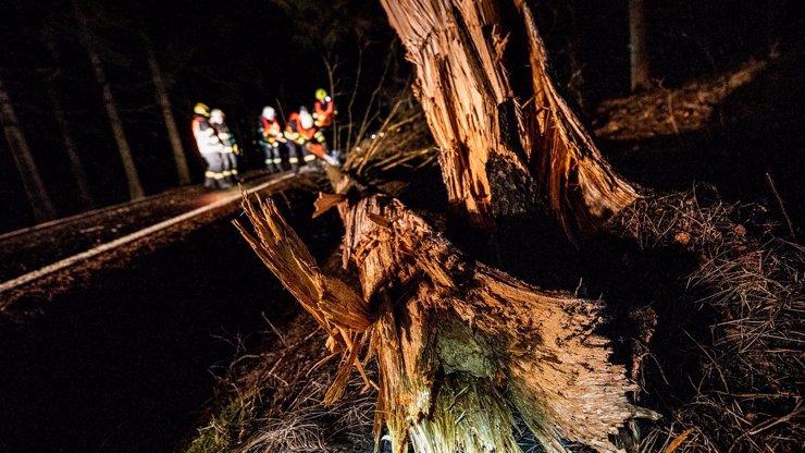 Silná bouřka řádila na Olomoucku: Hasiči řešili popadané stromy i utrženou střechu