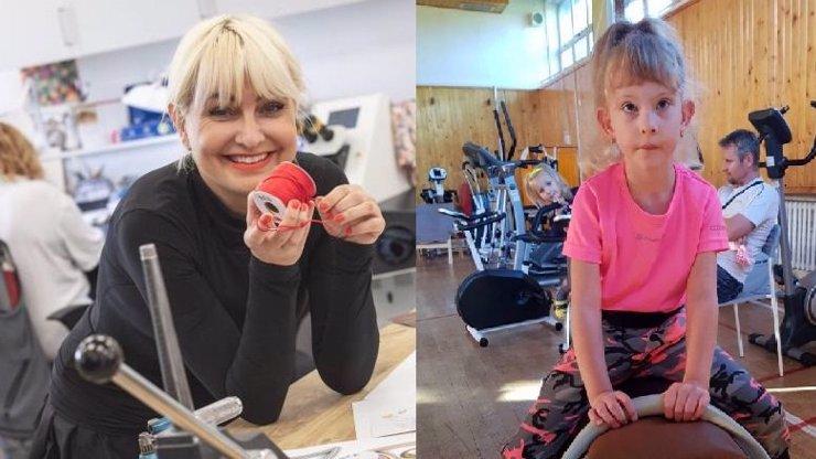 Bára Nesvadbová pomáhá Leonce postavit se na nohy: Šestiletá holčička je po dětské mozkové obrně