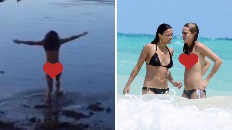 Exmilenka topmodelky Cary Michelle Rodriguez vystrčila na svět své hříšné pozadí