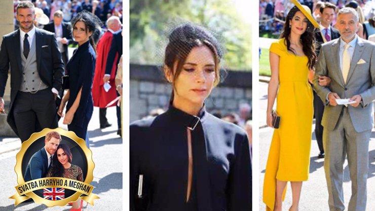 Na královskou svatbu dorazily první celebrity: Skvostná Amal Clooney, švihák Beckham a naštvaná Victoria!
