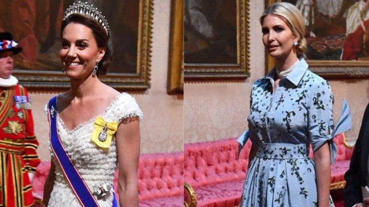 Kate a Ivanka zářily na banketu v paláci: V šatech za statisíce vypadaly božsky