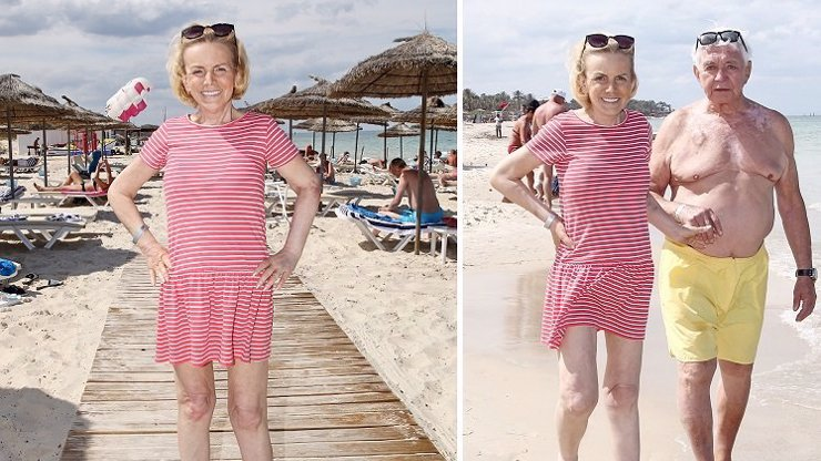 Vypadá dobře: Vyhublá Krampolová po propuštění z nemocnice dováděla u moře