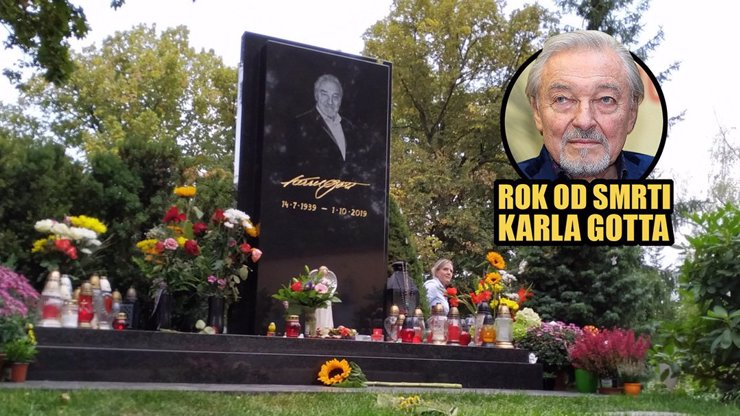 Rok od smrti Karla Gotta: Jak dnes vypadá Mistrův hrob?