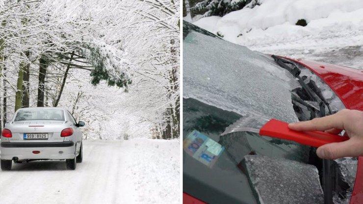 KALAMITA V ČESKU: Silnice pokryla ledovka a sníh. Na dálnicích uvízly kamiony a tvoří se kolony!