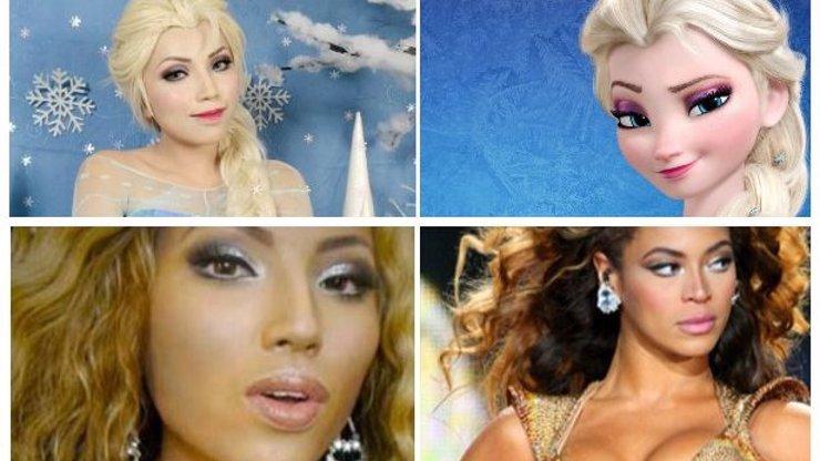 10 neuvěřitelných přeměn: Mladá umělkyně se umí stát kýmkoliv jen za pomoci make-upu