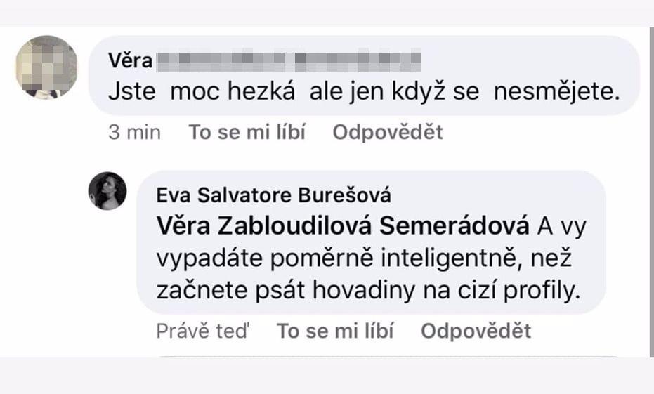 Slunečná Eva Burešová to schytala za úsměv: Lidé se jí zastali a zasypali ji podporou