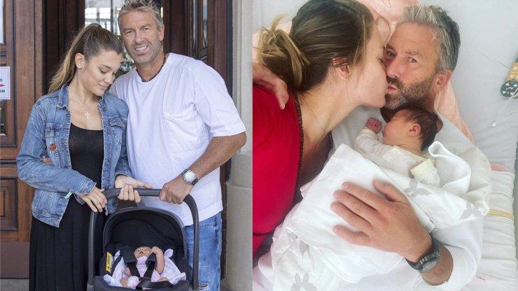Pyšný otec Petr Nedvěd už má své holky doma: Náročný porod Nicole Volfové na kráse neubral