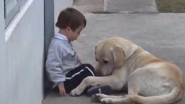 Video, které dojímá celý svět: Chlapeček s Downovým syndromem odmítá lásku psí kamarádky
