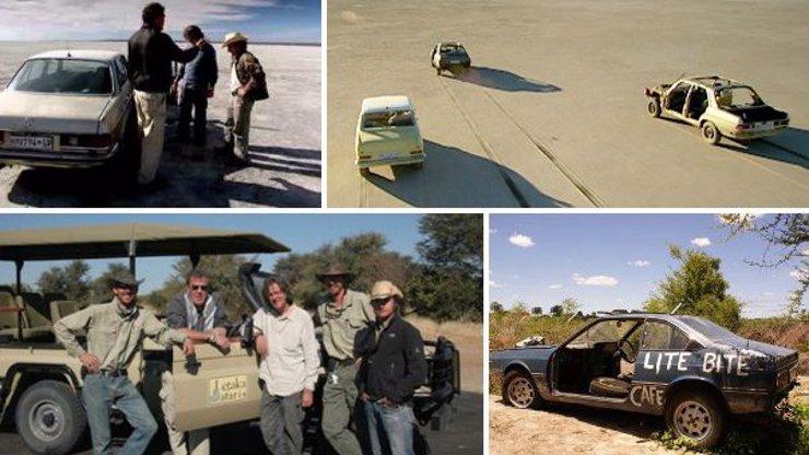 Kluci z Top Gearu vyrazili na šílenou pouť do Botswany: Dnes uvidíte, jak vypadá homokovboj a homoterorista!