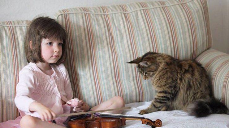 8 důkazů úžasného přátelství mezi lidmi a zvířaty: Autistické holčičce pomáhá tahle roztomilá kočka!