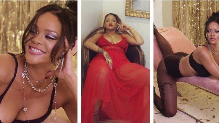 Má na to i s kyprými tvary! Rihanna ukázala dekolt a ohnivá stehna
