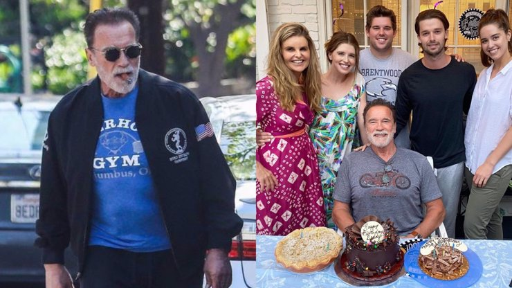 Narozeninová oslava Arnolda Schwarzeneggera: Terminátor se bavil s dětmi i exmanželkou