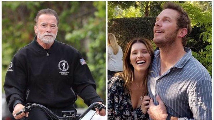Schwarzenegger bude brzy dědečkem: Chris Pratt poprvé ukázal bříško těhotné Katherine