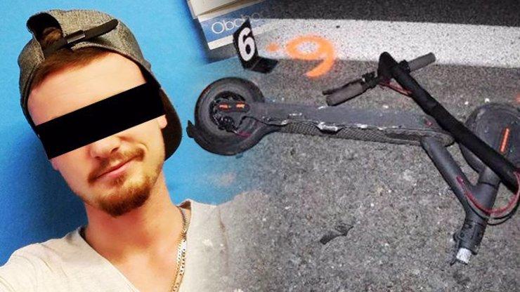Zabiják v BMW: Řidič (20) smetl třiadvacetiletého Matěje na koloběžce, od nehody ujel