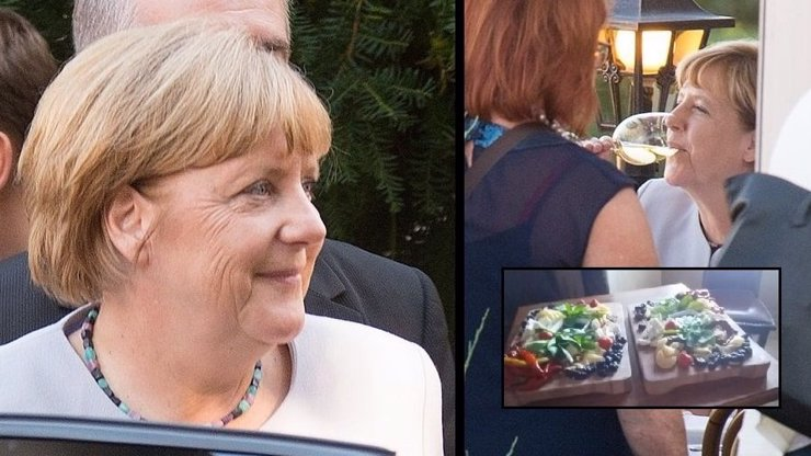 EXKLUZIVNÍ FOTKY NA EXTRA.CZ: Bohuslav Sobotka vzal Angelu Merkel na večeři na Strahov. Byli jsme u toho! Co si dala dobrého?