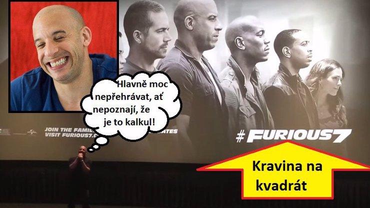Video, ze kterého si budou fanynky Paula Walkera trhat rodidla: Vin Diesel pláče na premiéře hovadiny Rychle a zběsile 7!