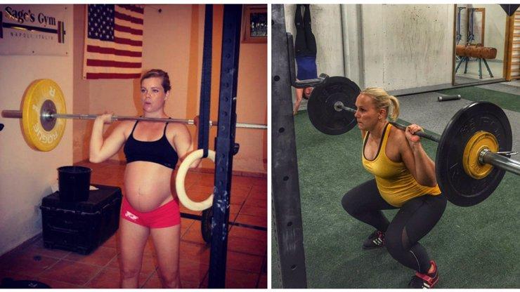 Vzpírání v těhotenství? Žádný problém! Těchto 9 žen ignoruje požehnaný stav a vesele si posiluje i s velkým břichem