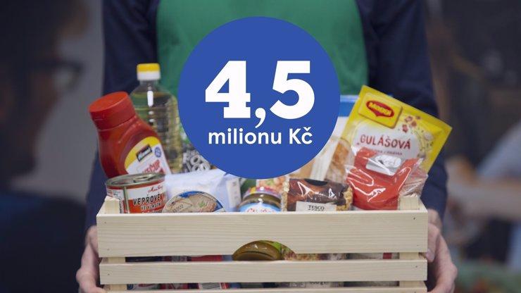 Potraviny za 4 a půl milionu! Rozdělí si je lidé v nouzi