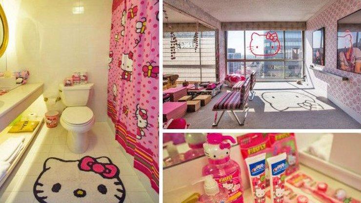 Hotel snů pro všechny holčičky: Celé apartmá je vyvedeno ve stylu Hello Kitty