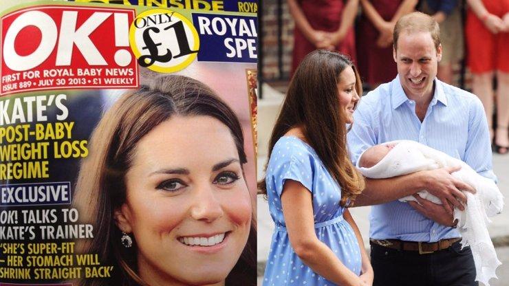 Nechutné: Britská média zaútočila na poporodní bříško Kate Middleton a nutí ji hubnout!