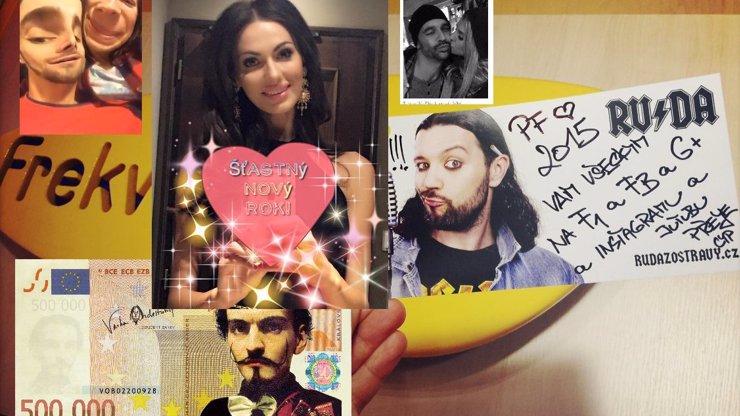 Péefka celebrit a Facebook: Bučková byla brutálně sladká a Varhan stylový! Kdo letos na Nový rok zaujal sociální sítě?
