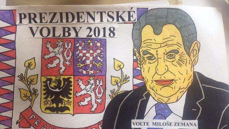 Největší fanoušek Miloše Zemana poslal na Hrad krásný dárek! Proč je ale prezident ŽLUTÝ?