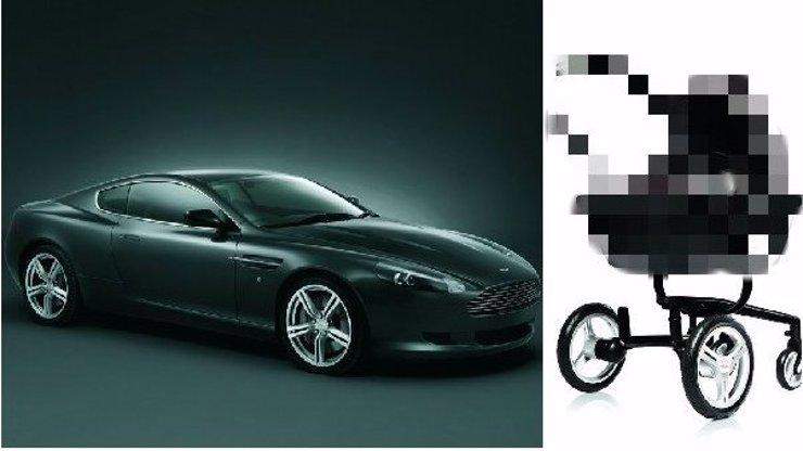 Nemáte na superluxusní sporťák Aston Martin? Manželka vás může alespoň tlačit v jejich kočárku! Za cenu Fabie!
