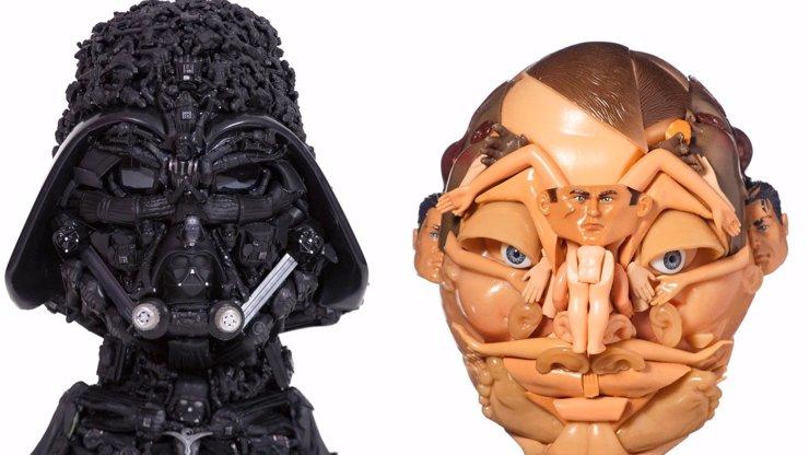 Recyklovaný příběh hraček: Australská umělkyně mění odpad v bizarní umělecká díla!
