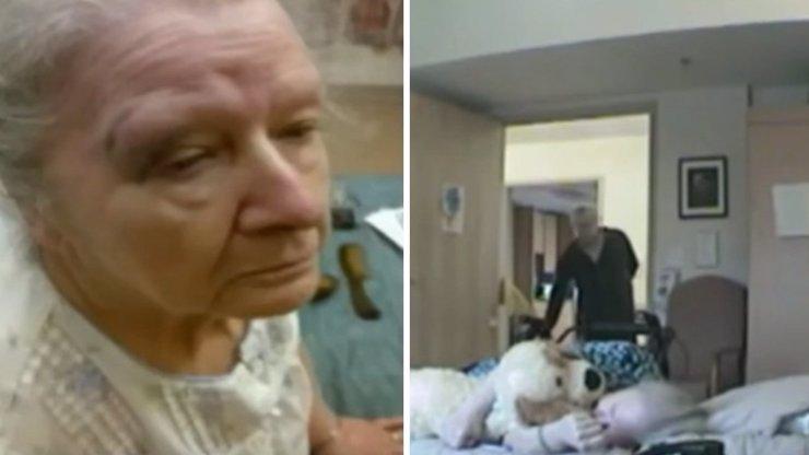 VIDEO: Ošetřovatelka týrala starou paní. Vše si natočil její syn