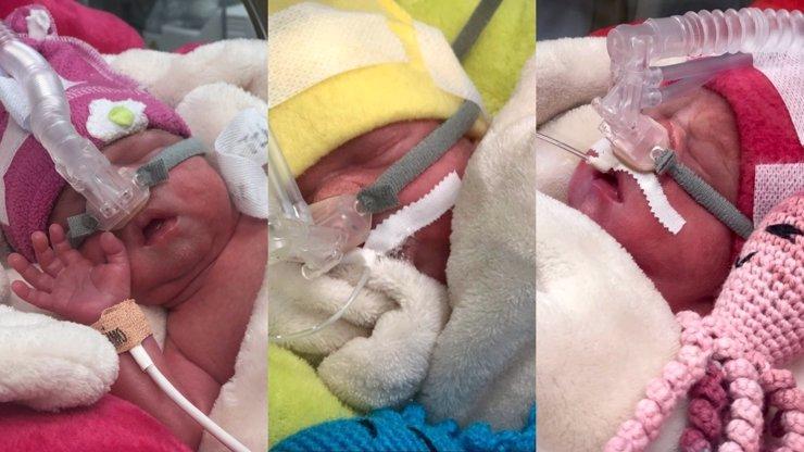 Kouzelná událost ve FN Ostrava: Matka porodila krásná trojčata a září štěstím