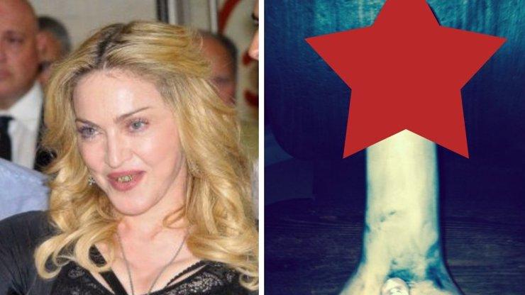 Madonna má jasno: Její novoroční přání má tvar penisu. V britských médiích se její fotka cenzuruje, my vám ukážeme originál. Ale až v galerii
