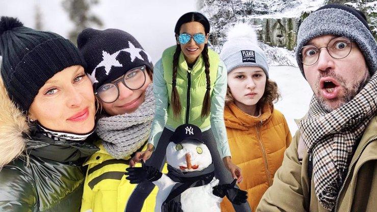 Zimní radovánky slavných: Kde si užívají sněhové peřiny a kdo vyzývá k nelegálnímu bobování