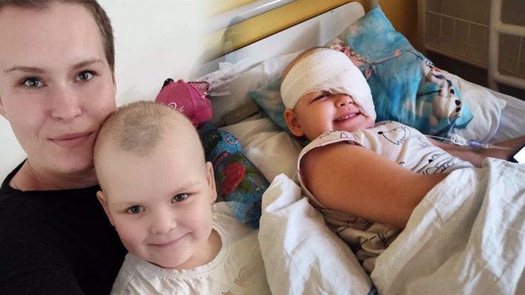 Srdcervoucí příběh: Nanný (5) z Plzeňska přišla o oko kvůli nádoru, ve druhém má další tři