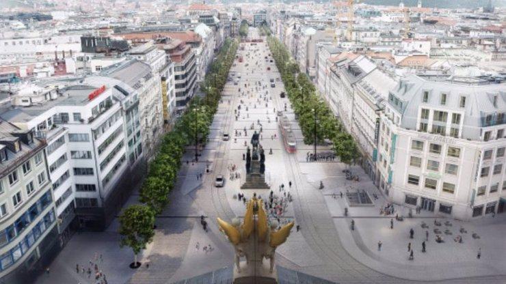 Václavské náměstí projde velkou proměnou: Radní plánují úbytek parkovacích míst i návrat tramvají