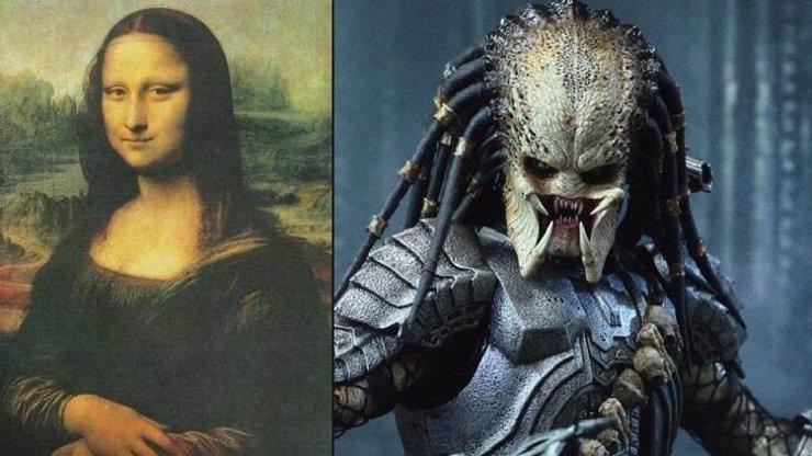 Mona Lisa vydala další šokující tajemství. Na tajemném obrazu se skrývá hrozivá tvář Predátora!