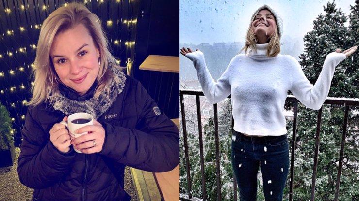 Patricie Pagáčová si užívá první nadílku: Pod svetrem ukázala své sněhové vločky