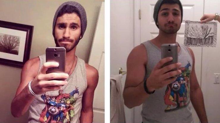 Tomu říkáme pomsta: Celá rodina si udělala legraci z koupelnové selfie jednoho svého člena