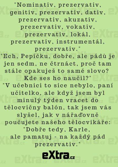 Lekce češtiny v nářaďovně z vás lepšího češtináře neudělá...