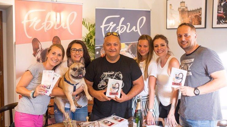 Nezisková organizace OZ Frbul vydala svou první vtipnou knížku ze života francouzského buldočka Huga VIDEO