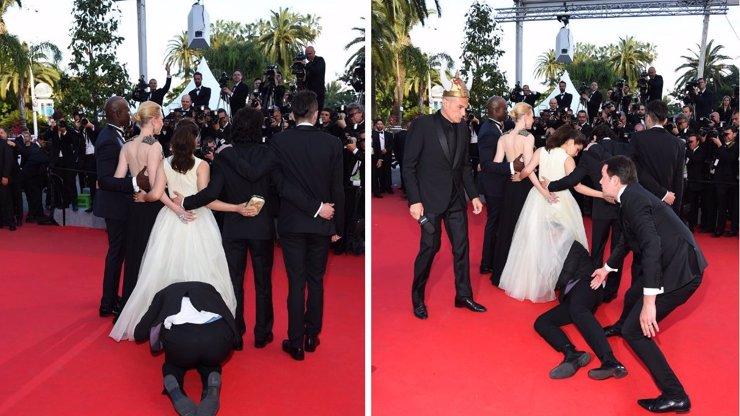 Skandál v Cannes: Na pózující herečku zaútočil bláznivý novinář. Video z incidentu baví celý svět!