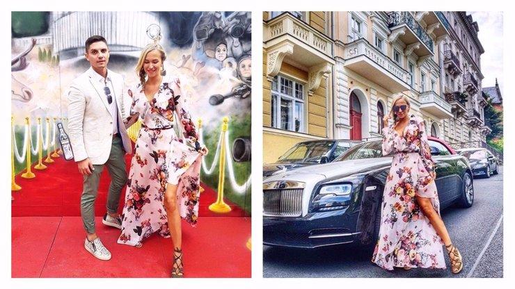 Tohle je nejkrásnější pár Karlových Varů 2017. Nela Slováková s přítelem předvedli, jak vypadá luxus!