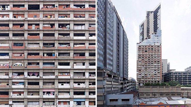 5 hodně depresivních fotek: Z rozestavěného mrakodrapu v Caracasu se stal nejvyšší slum na světě