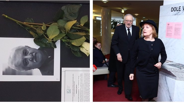 Pohřeb Mariána Labudy (†73): Loučí se zdrcený Milan Lasica i Magda Vášáryová