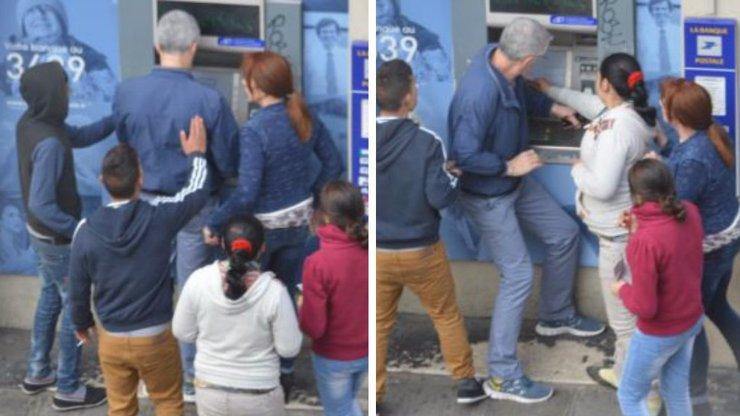 Fotografie krádeže, které děsí Francii: Skupinka