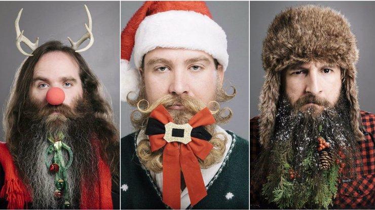 Pánové, trocha inspirace: 12 vánočních dekorací do vašich vousů