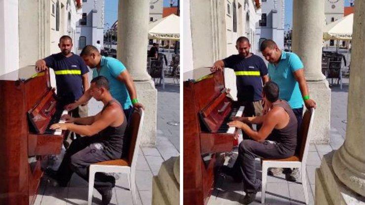 Dělníci na Slovensku sedli za piano a předvedli výkon, který vás zvedne ze židle!