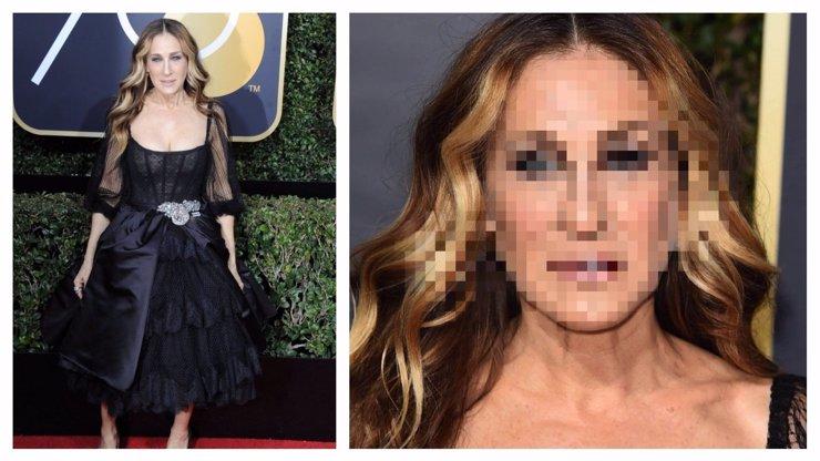 Sarah Jessica Parker vyděsila na Zlatých glóbech přítomné hvězdy: Vypadala jako vrásčitá stařena nad hrobem