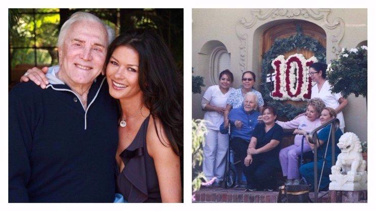 Světoznámá legenda Kirk Douglas se dožil 101 let! Catherine Zeta-Jones mu dojemně popřála
