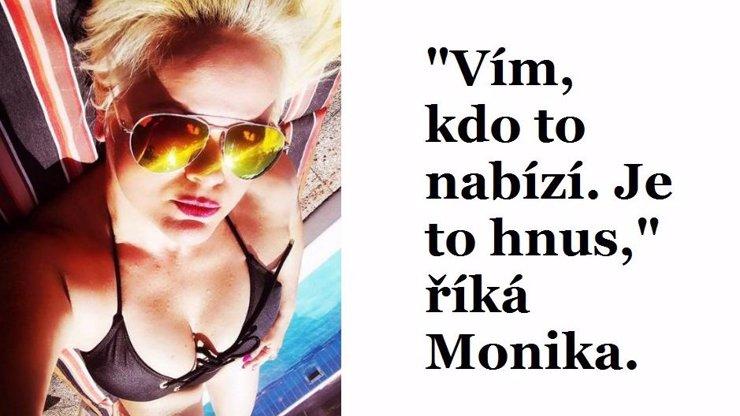 Nechutný kšeft s hříšným tělem: Z mobilu unikly nahé fotky a video Moniky Štikové!